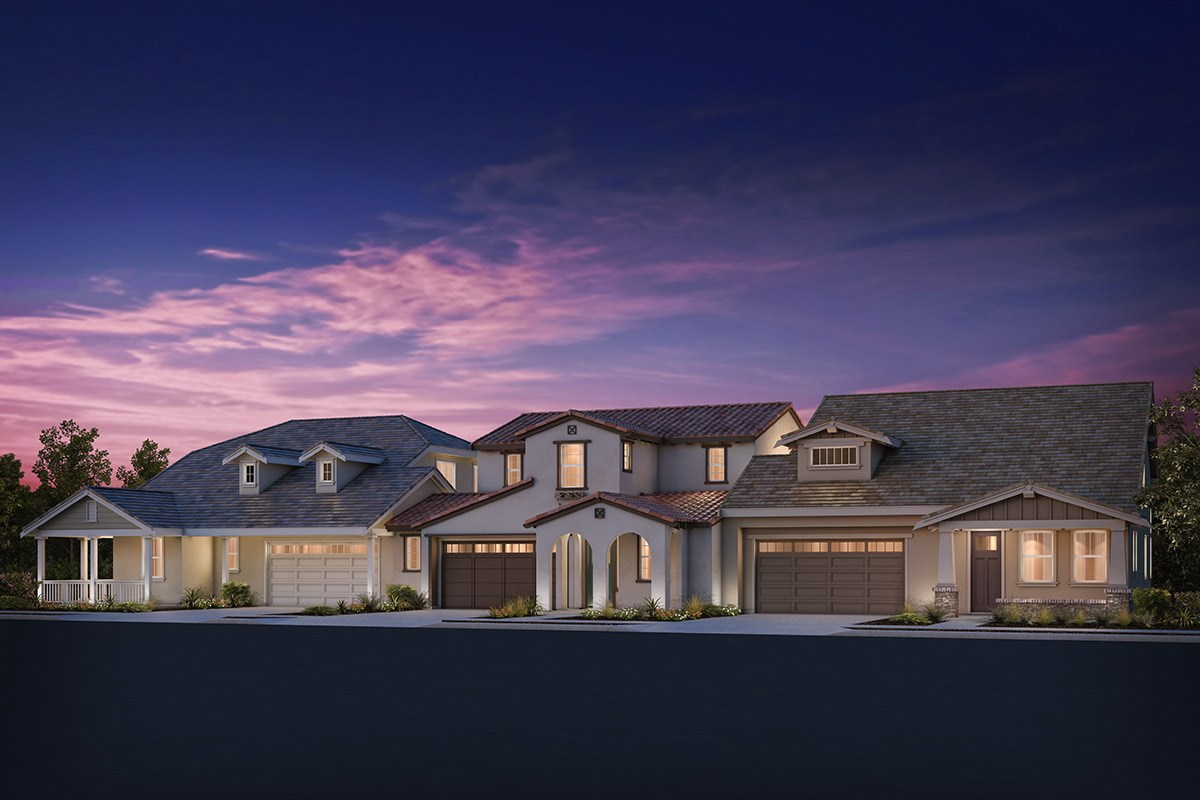 New Homes in Brentwood, CA - Sparrow at Marsh Creek Plan 4/5 Triplex 'C'