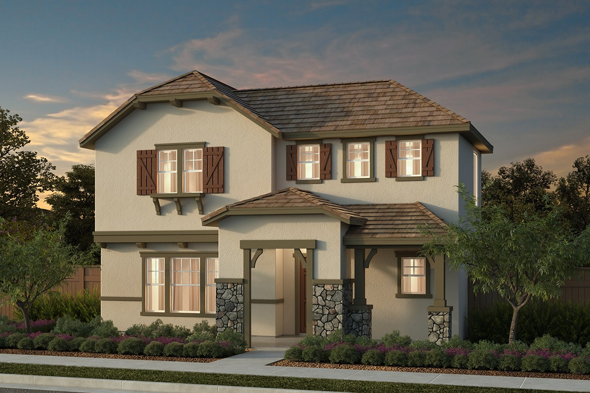 New Homes in Manteca, CA - Haven at Sundance Plan 2001 Cottage
