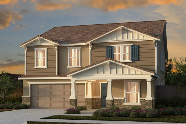 New Homes in Manteca, CA - Traditional 3061 - Craftsman