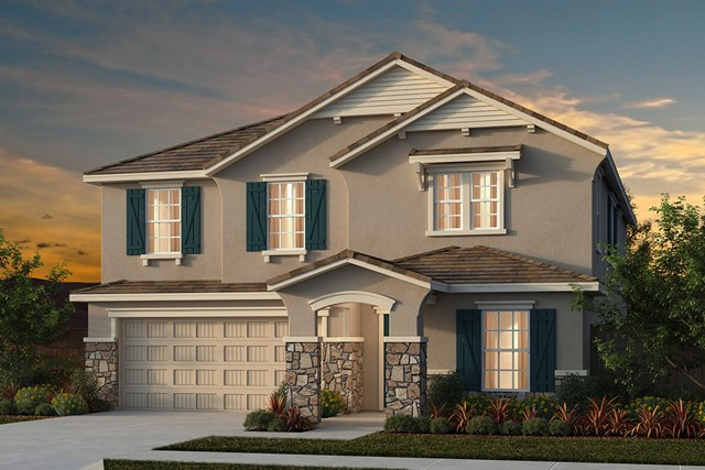 New Homes in Manteca, CA - Traditional 3061 - French Cottage