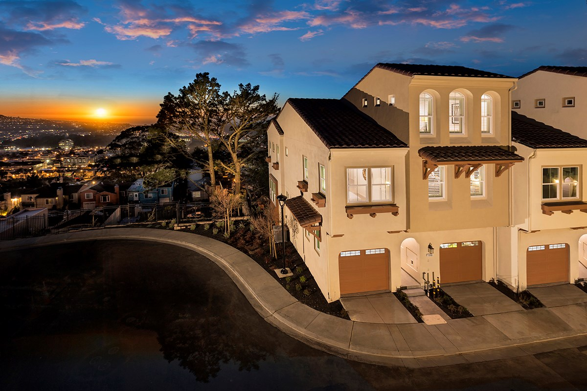 New Homes in Daly City, CA - The Row at Wellington Heights Plan 4 Exterior
