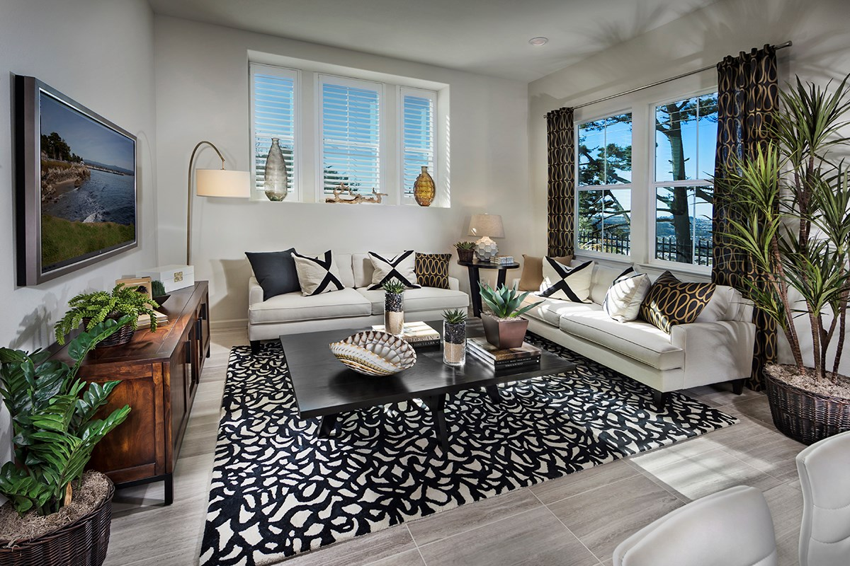 New Homes in Daly City, CA - The Row at Wellington Heights Plan 4 Great Room