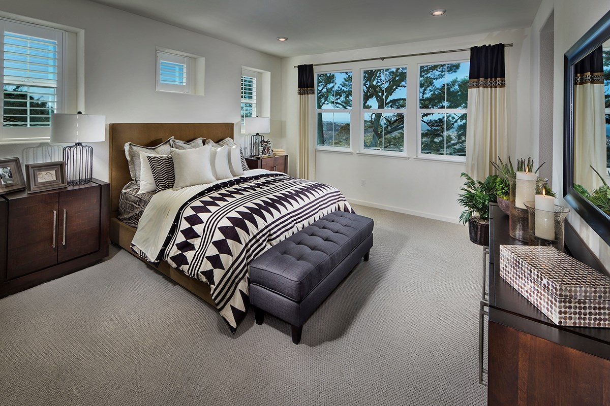New Homes in Daly City, CA - The Row at Wellington Heights Plan 4 Master Bedroom