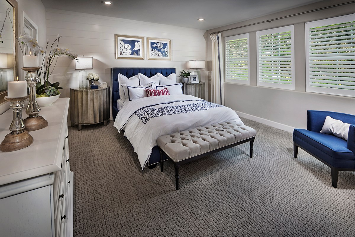 New Homes in Daly City, CA - The Row at Wellington Heights Plan 5 Master Bedroom