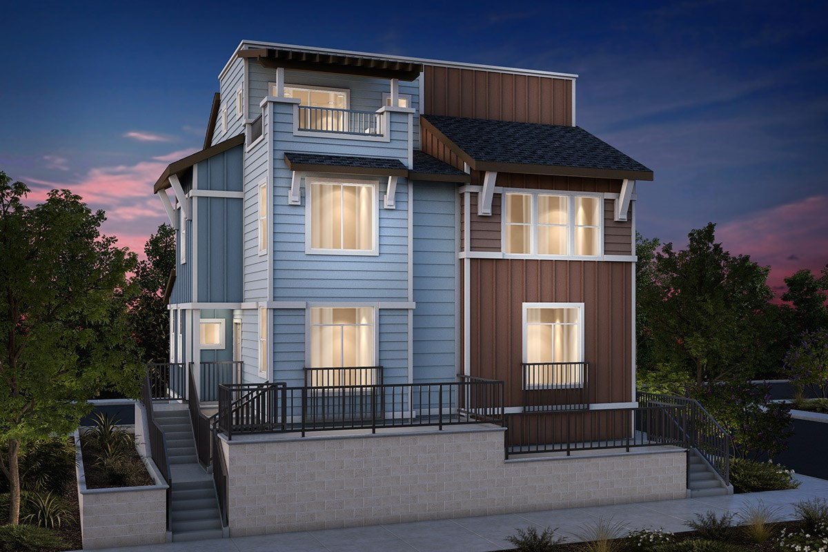 Plan 2a new home floor plan in the village at garden for Types of duplex houses