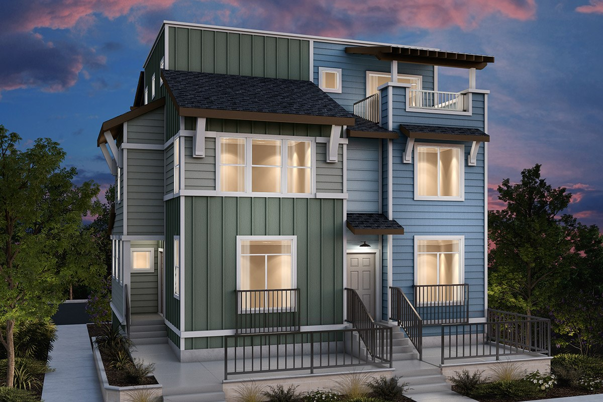 New Homes in Daly City, CA - The Village at Garden Valley Duplex: Type A ALT