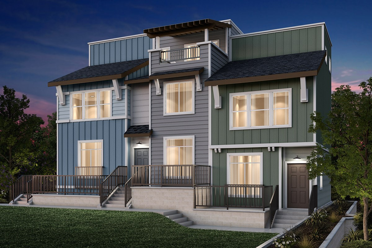 New Homes in Daly City, CA - The Village at Garden Valley 3-PLEX: Type B
