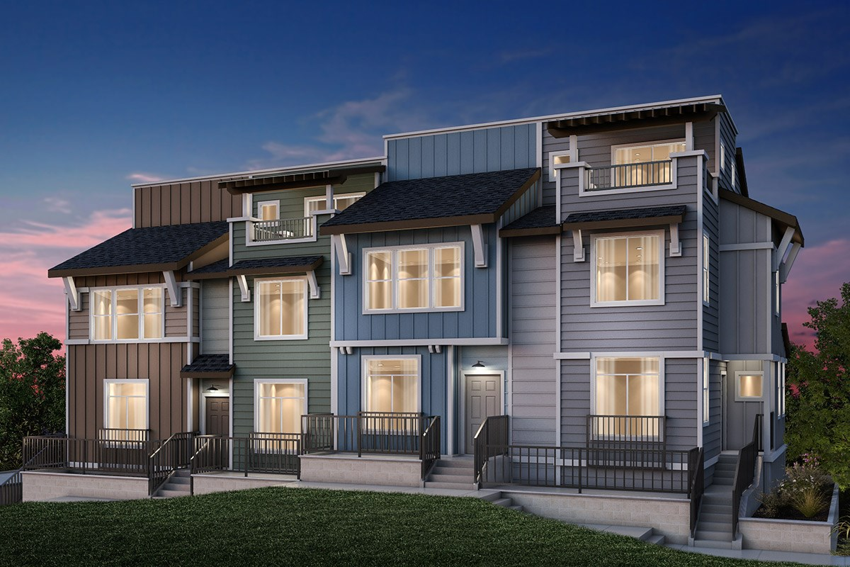 New Homes in Daly City, CA - The Village at Garden Valley 4-PLEX: Type D
