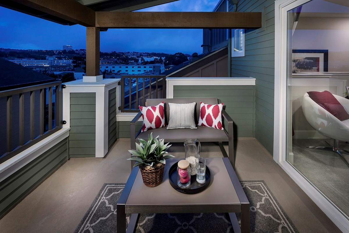 New Homes in Daly City, CA - The Village at Garden Valley Plan 3 Deck