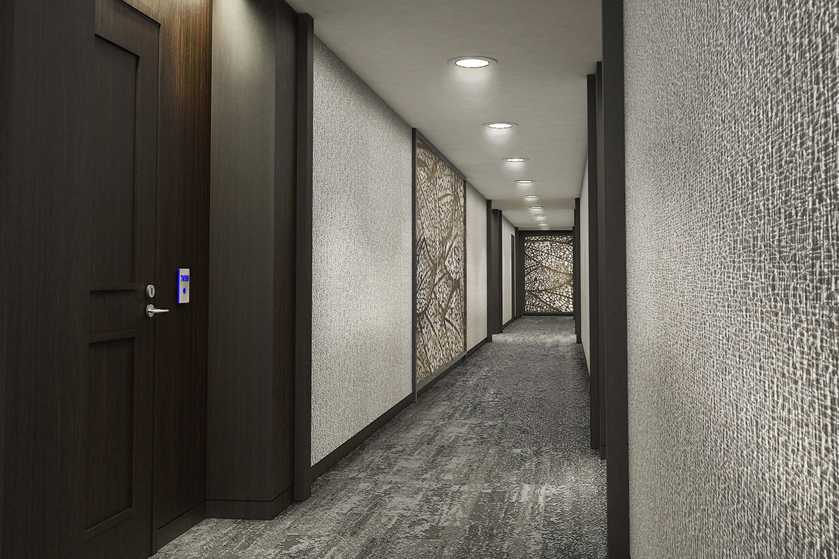 New Homes in Lafayette, CA - Towne Center Hallway Corridor
