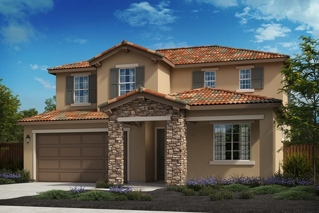 New Homes in Oakley, CA - Elevation C - Tuscan