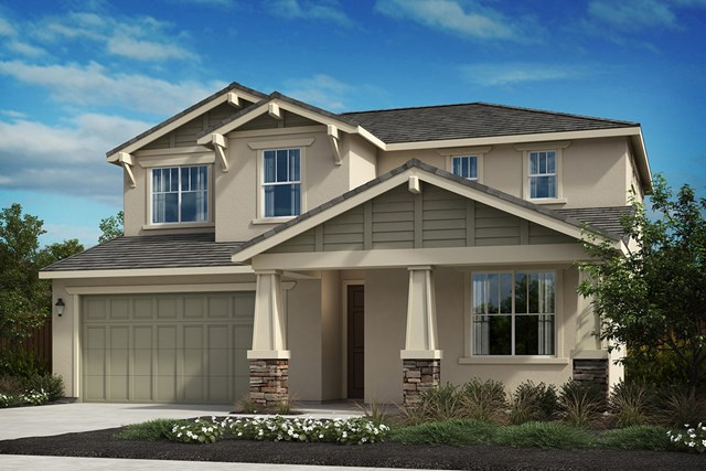 New Homes in Oakley, CA - Elevation D - Craftsman