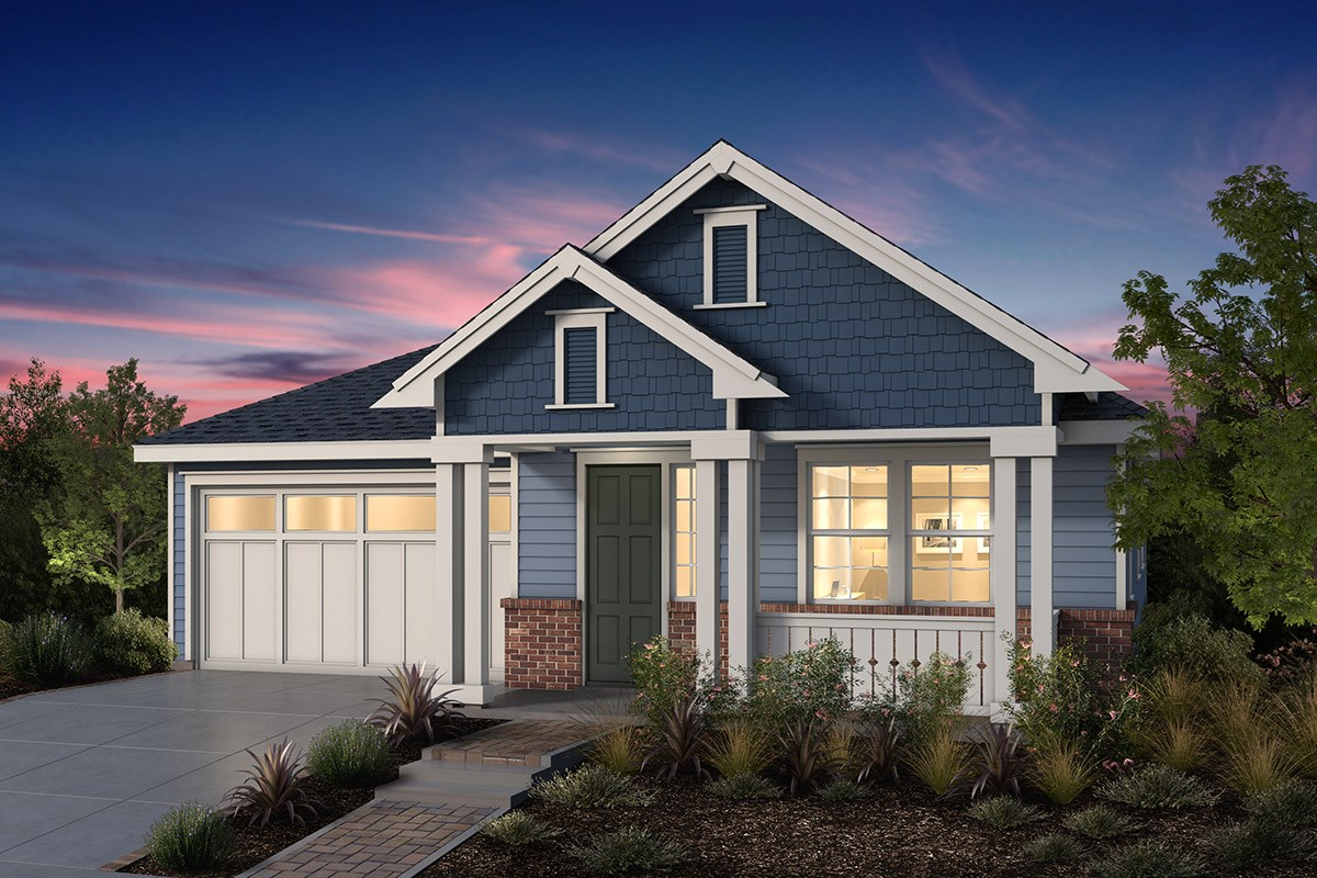 New Homes in Fremont, CA - Windrose at Patterson Ranch Plan 1 Victorian Elevation