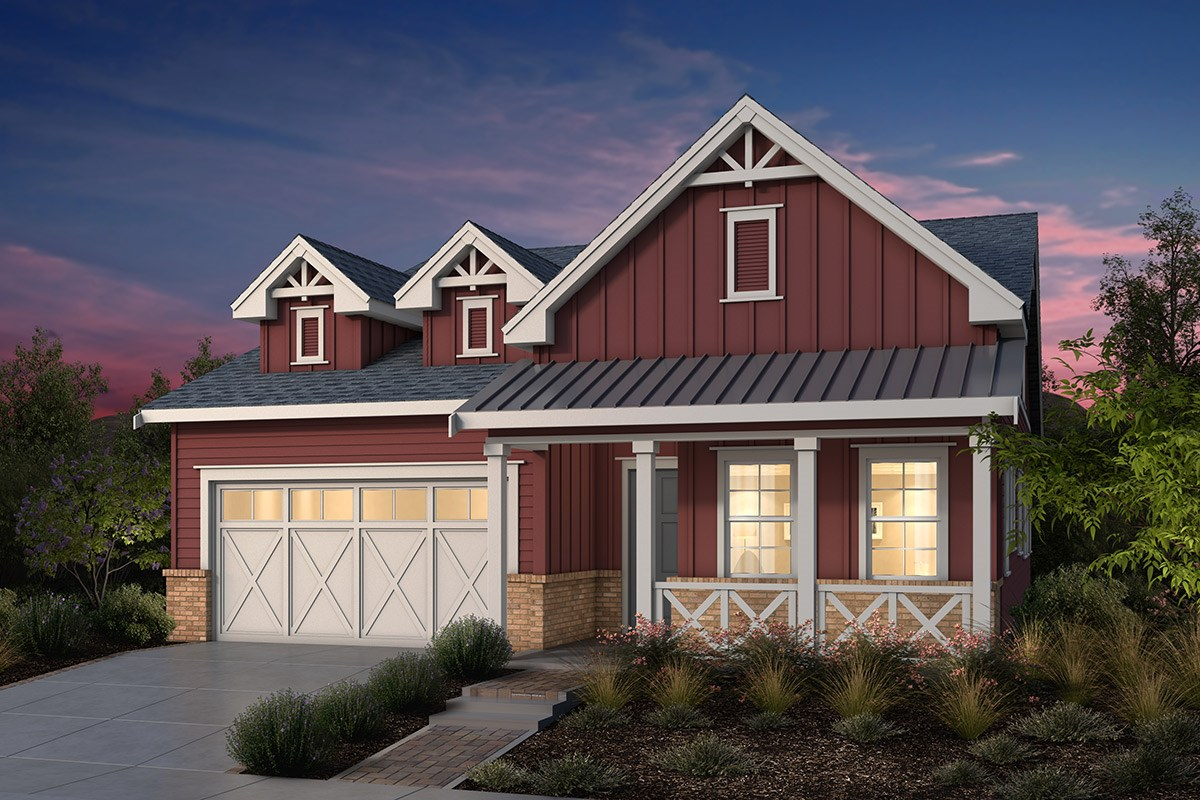 New Homes in Fremont, CA - Windrose at Patterson Ranch Plan 2 Farmhouse Elevation