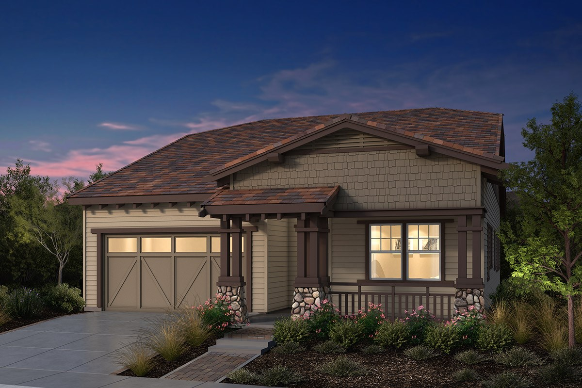 New Homes in Fremont, CA - Windrose at Patterson Ranch Plan 2 Craftsman Elevation
