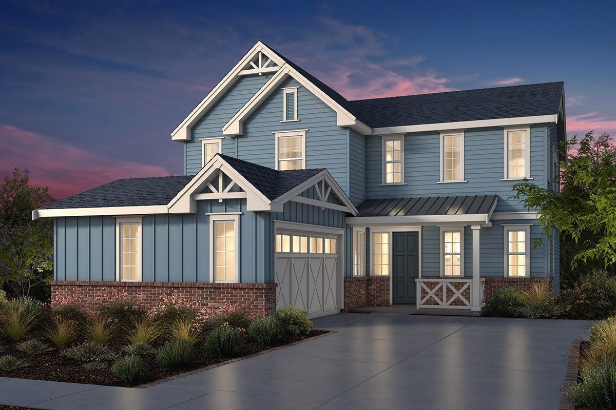 New Homes in Fremont, CA - Windrose at Patterson Ranch Plan 3 Farmhouse Elevation