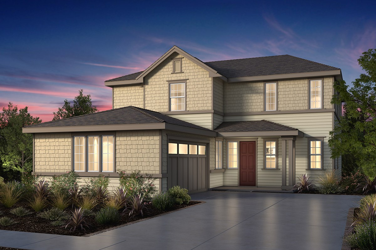 New Homes in Fremont, CA - Windrose at Patterson Ranch Plan 3 Victorian Elevation