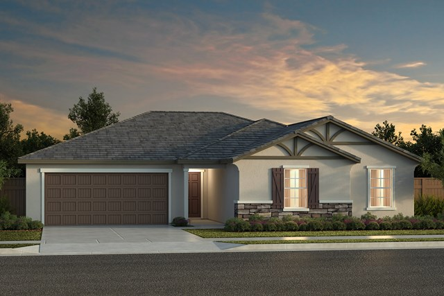 New Homes in Fresno, CA - Plan 2050 Elevation D