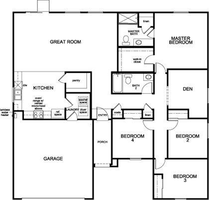 the jake – new home floor plan in olive lanekb home