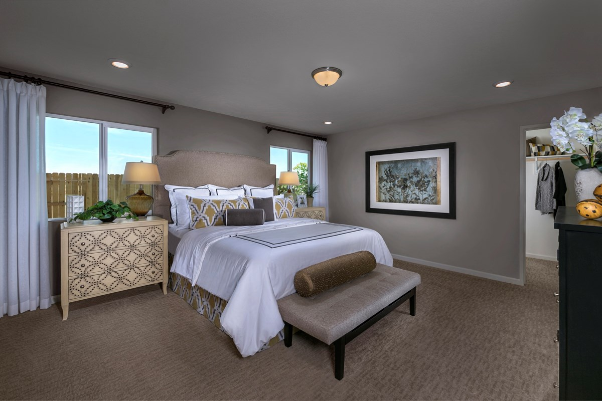 New Homes in Fresno, CA - Olive Lane The Kayla - Master bedroom