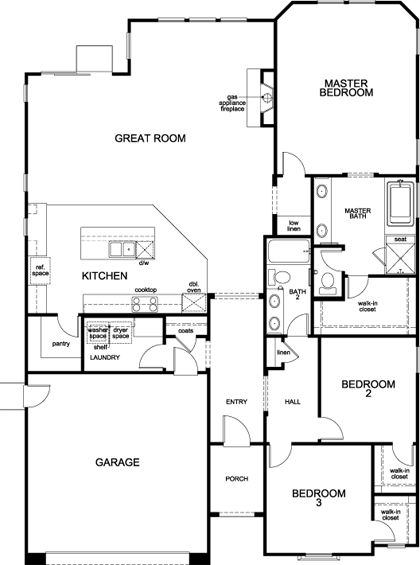 Residence 2102 New Home Floor Plan In Arroyo Vista At