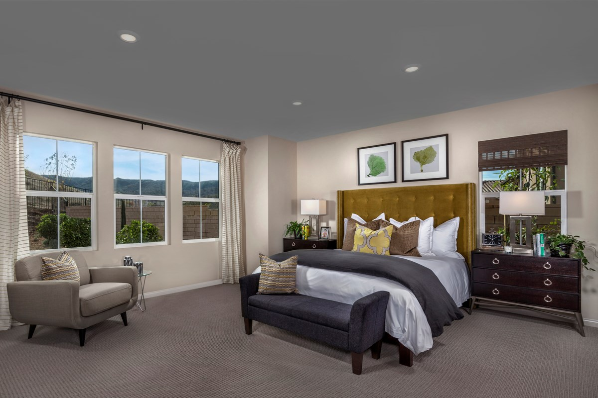 New Homes in Simi Valley, CA - Arroyo Vista at The Woodlands Residence 2414 Master Bedroom
