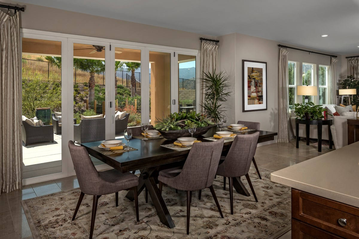 New Homes in Simi Valley, CA - Arroyo Vista at The Woodlands Residence 3292 Closed Patio Doors