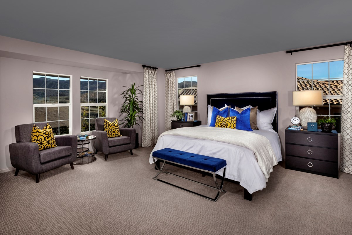 New Homes in Simi Valley, CA - Arroyo Vista at The Woodlands Residence 2852 Master Bedroom