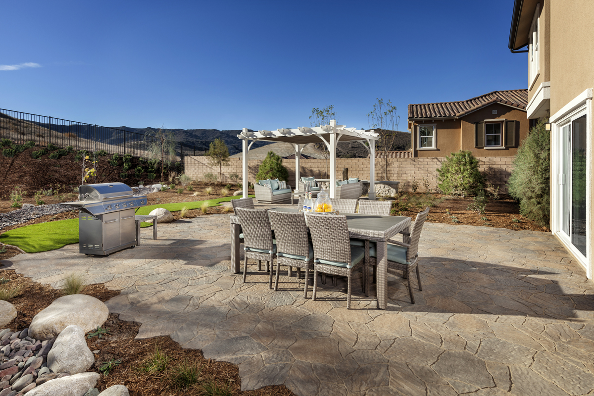 New Homes In Simi Valley, CA   Arroyo Vista At The Woodlands Residence 2852  Patio