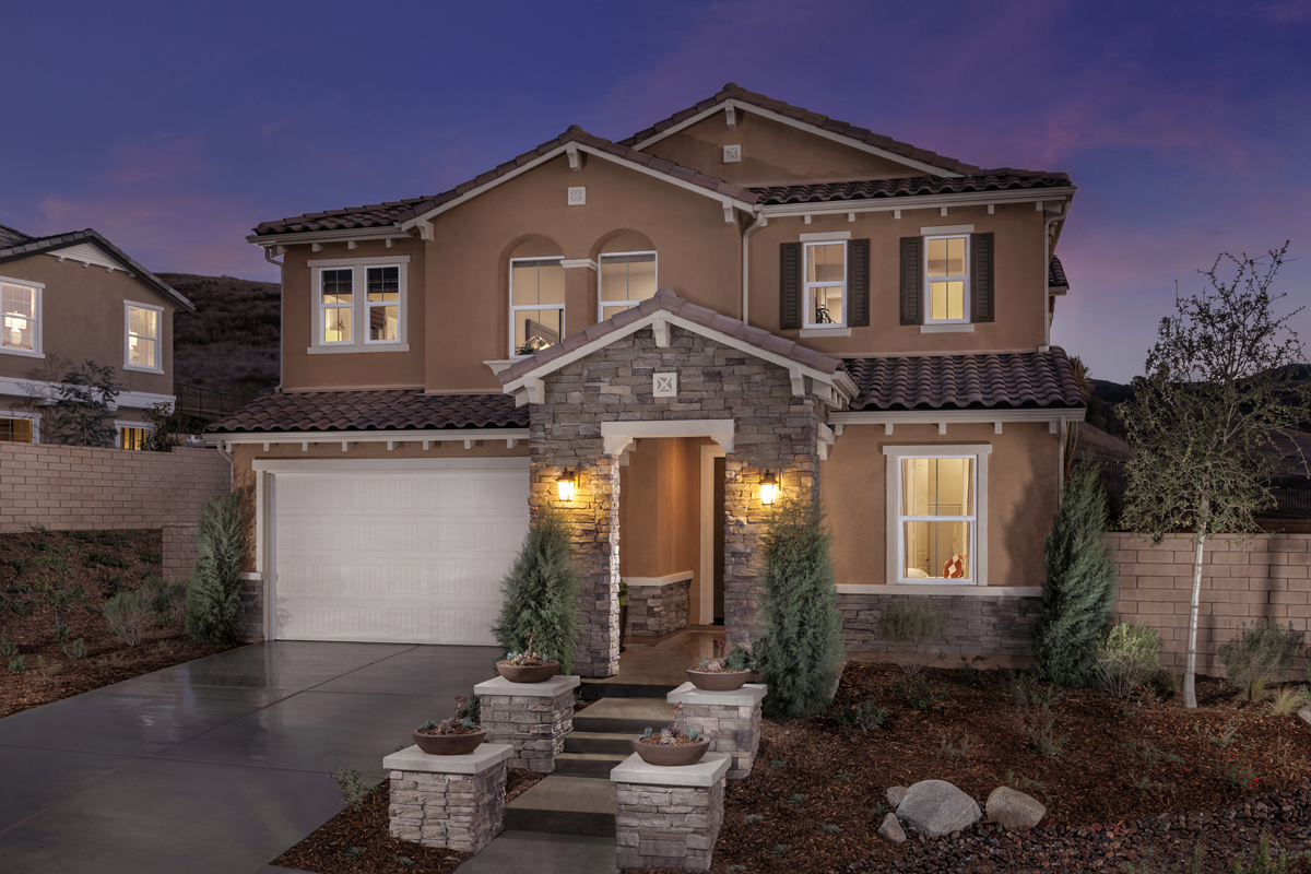 new homes in simi valley ca arroyo vista at the woodlands residence exterior - New Homes