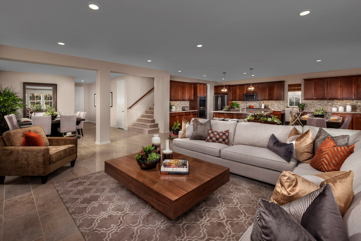 New Homes in Simi Valley, CA - Arroyo Vista at The Woodlands Residence 3292 Great Room