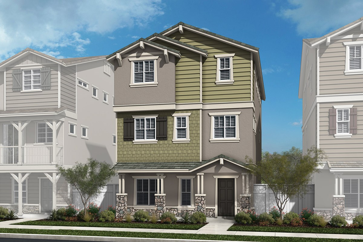 New Homes in Chatsworth, CA - Brezza Residence Three - Craftsman