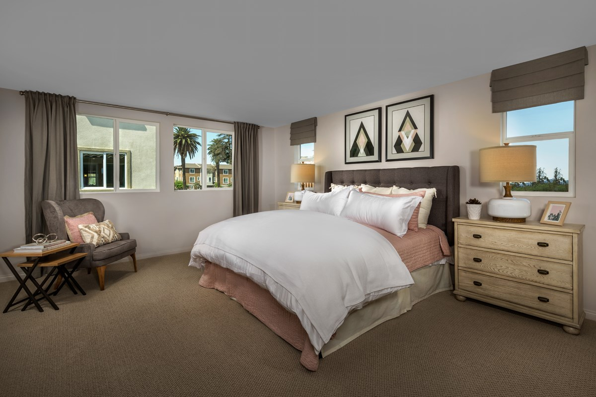 New Homes in Van Nuys, CA - Brighton Residence 1 Master Bedroom