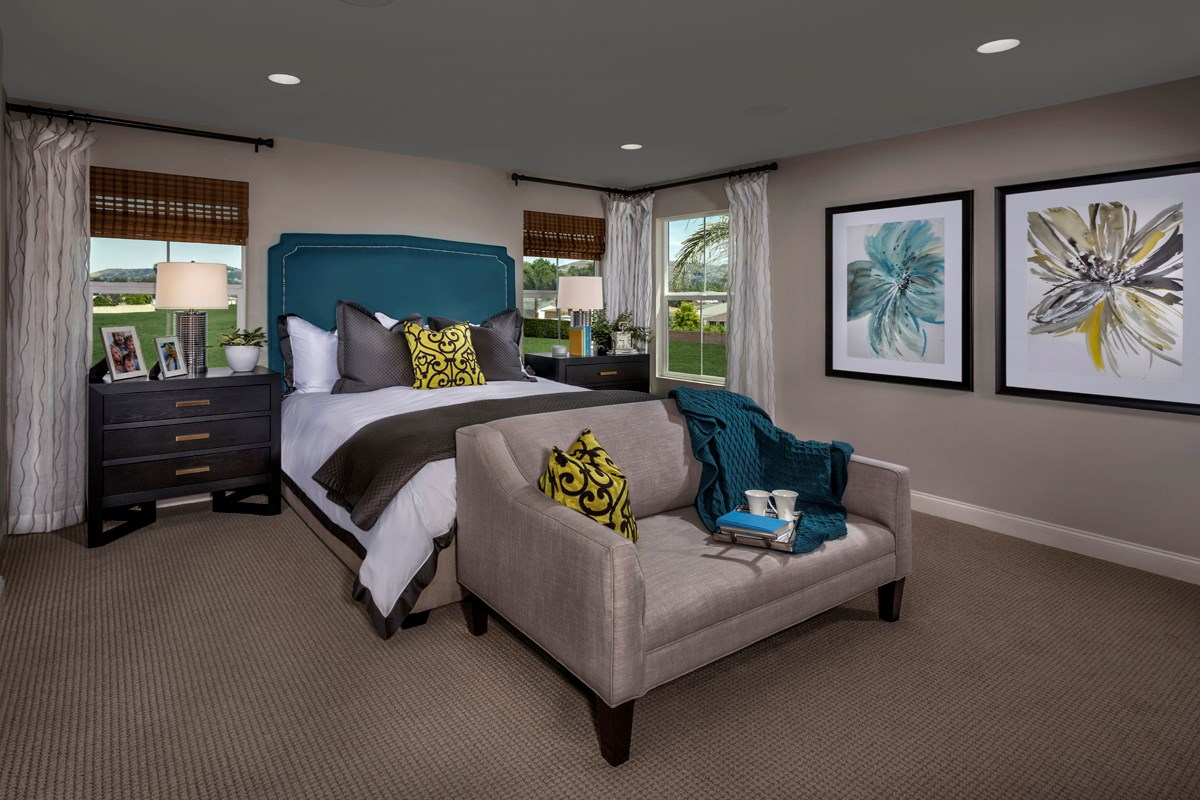 New Homes in West Covina, CA - Cadanera Residence Two - Master Bedroom