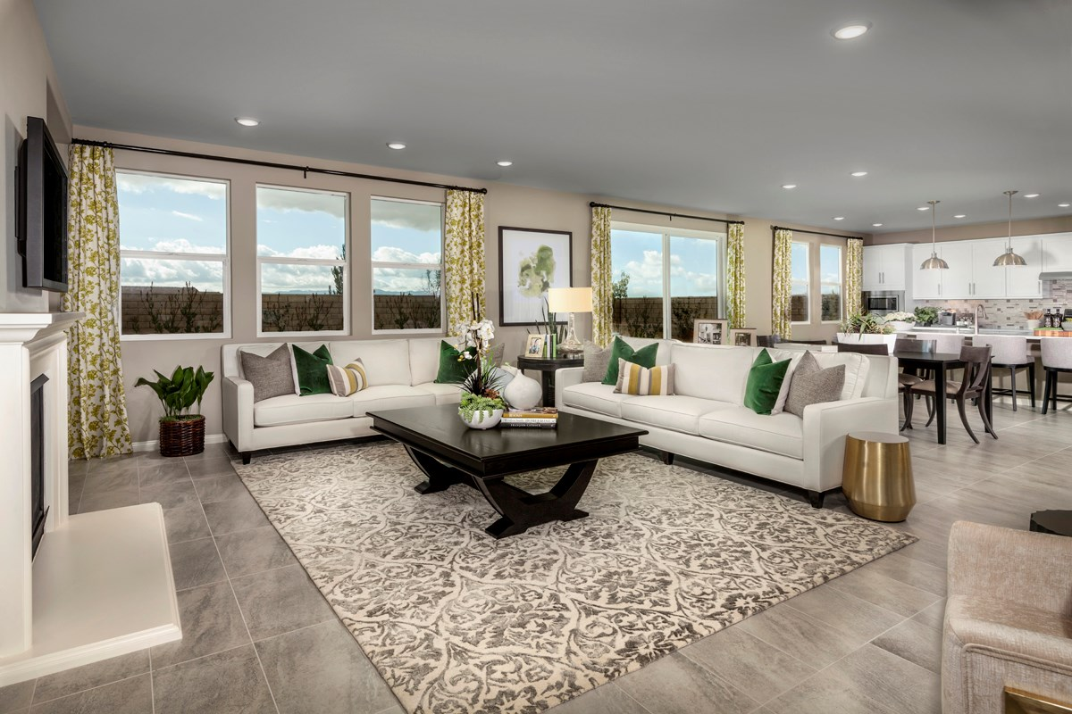 New Homes in Santa Clarita, CA - Canyon Crest Residence 4215 Great Room
