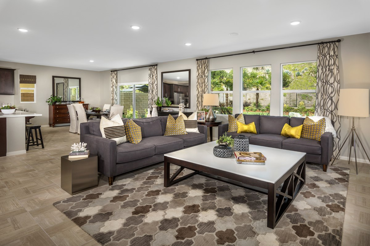 New Homes in Santa Clarita, CA - Canyon Heights Residence 3187 Great Room