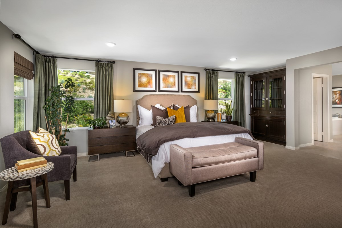 New Homes in Santa Clarita, CA - Canyon Heights Residence 3187 Master Bedroom