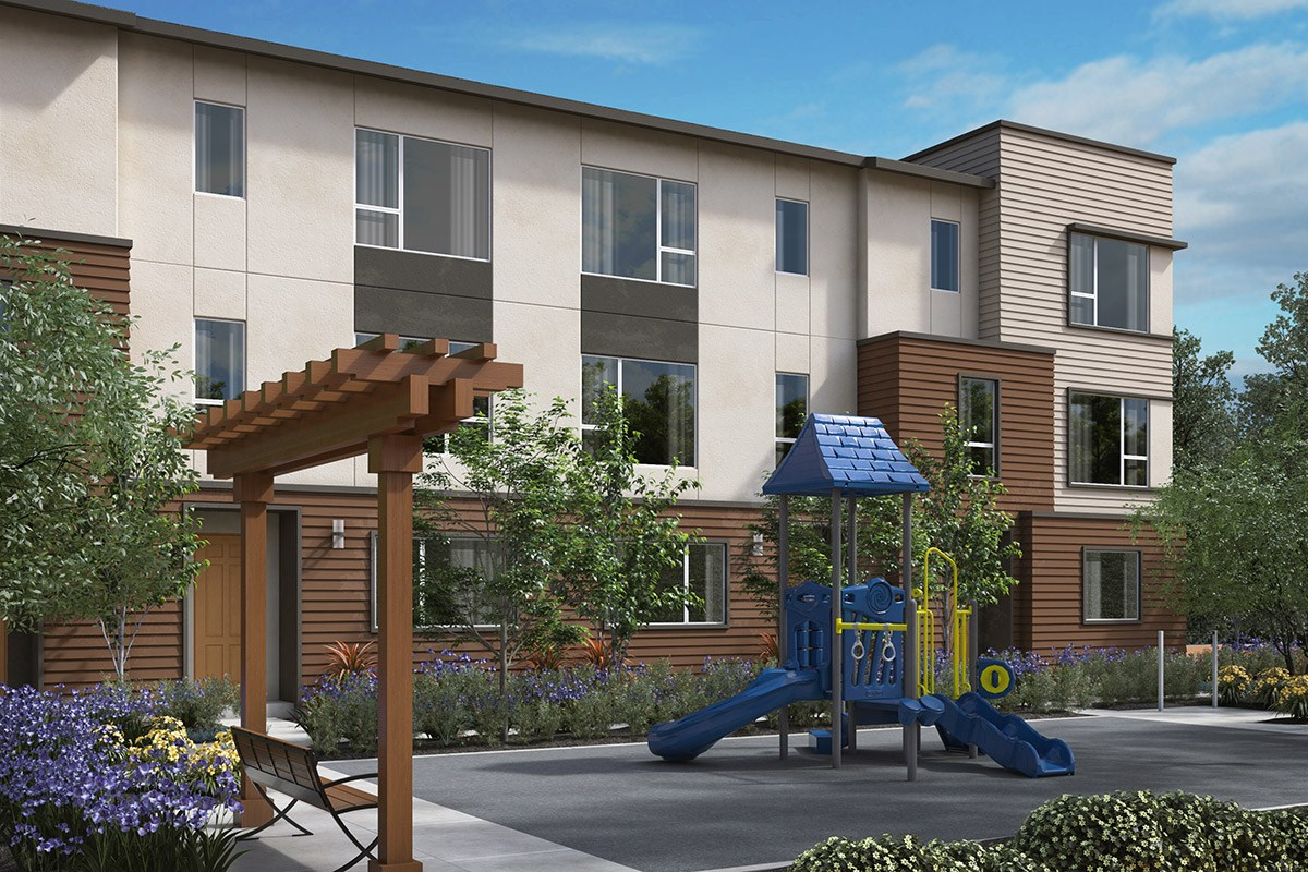 New Homes in Downey, CA - Centerpointe Exterior rendering of proposed Tot Lot