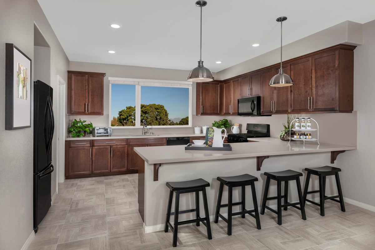 New Homes in Downey, CA - Centerpointe Residence 1 Kitchen