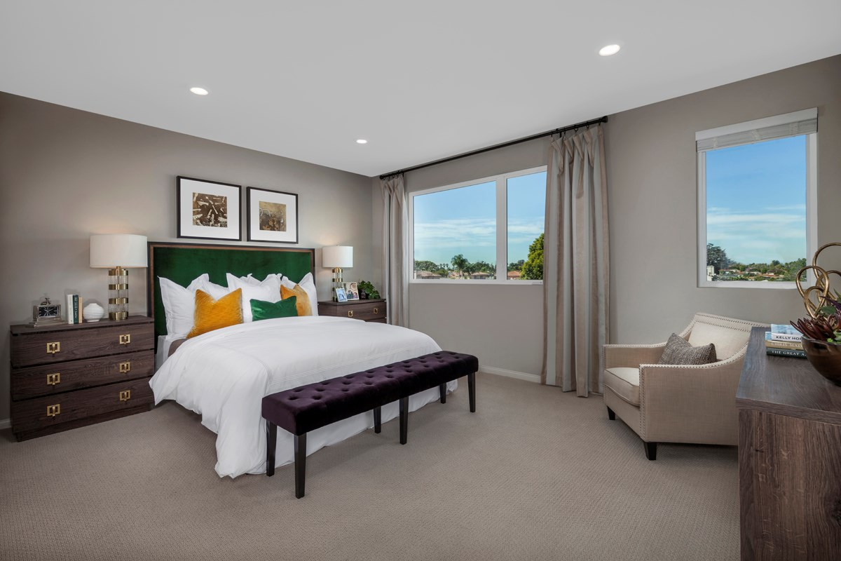New Homes in Downey, CA - Centerpointe Residence 1 Master Bedroom