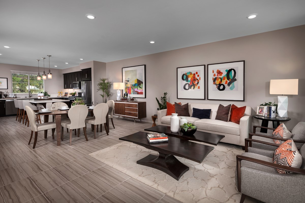 New Homes in Camarillo, CA - Mariposa at Springville Residence Two Great Room