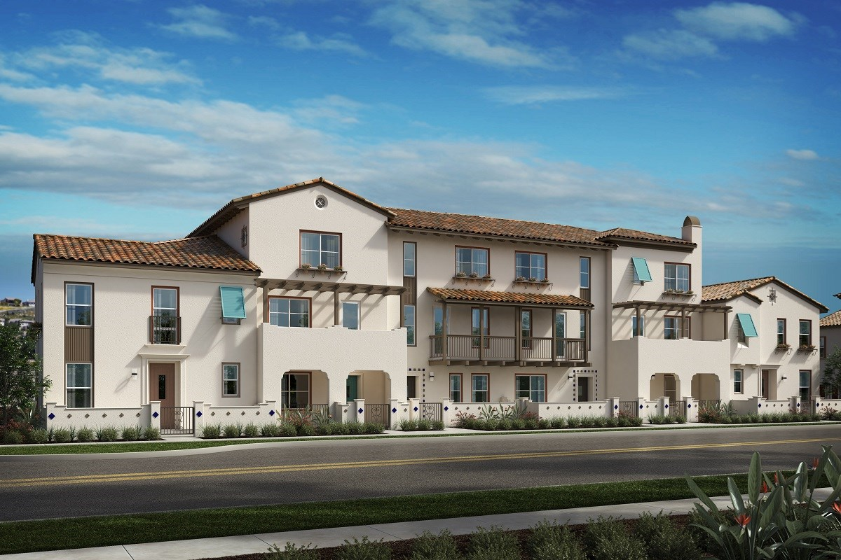 New Homes in Camarillo, CA - Mariposa at Springville 6 Plex Rendering