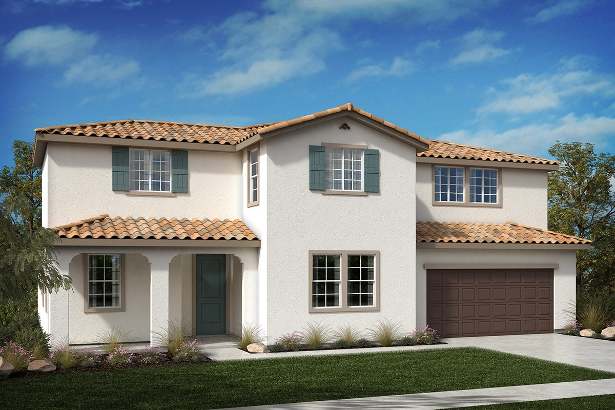 New Homes in North Hills, CA - Oak Pointe Residence 3272 - exterior Spanish 'A'