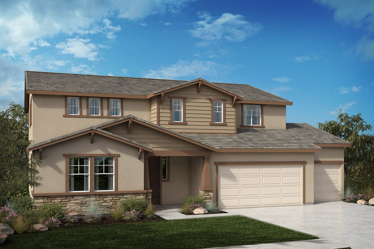 New Homes in North Hills, CA - Oak Pointe Residence 3272 - exterior Craftsman 'C'