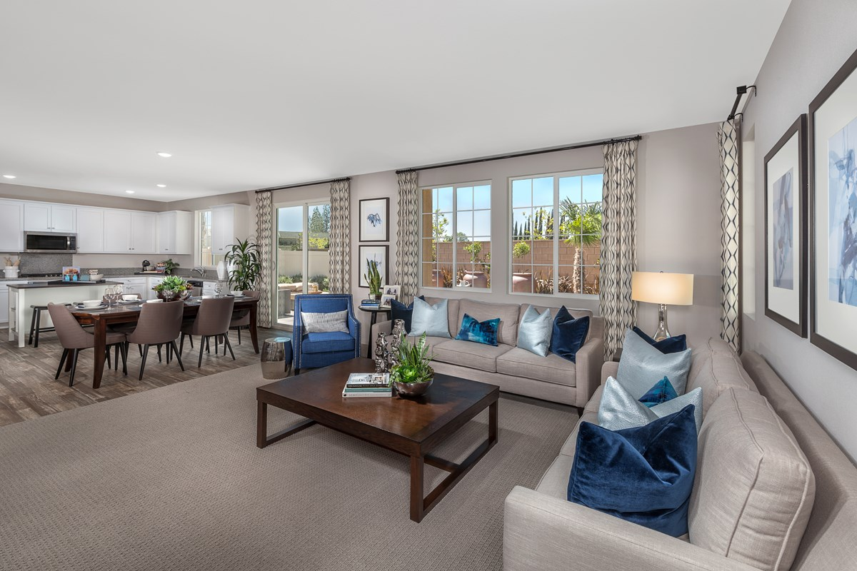 New Homes in North Hills, CA - Oak Pointe Residence 2427 - Great Room