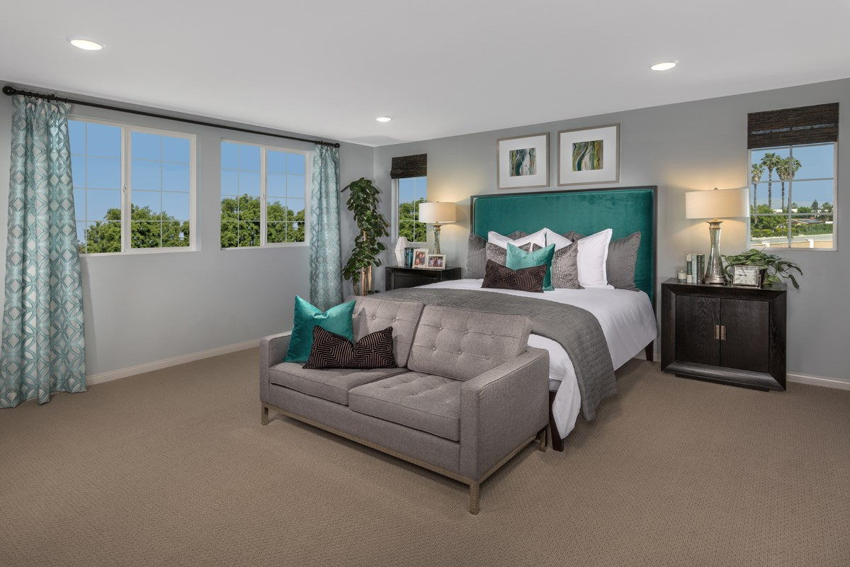 New Homes in North Hills, CA - Oak Pointe Residence 2952 - Master Bedroom