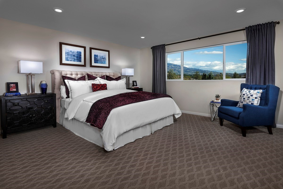 New Homes in Lake View Terrace, CA - Sagecrest Residence 3 - Master Bedroom