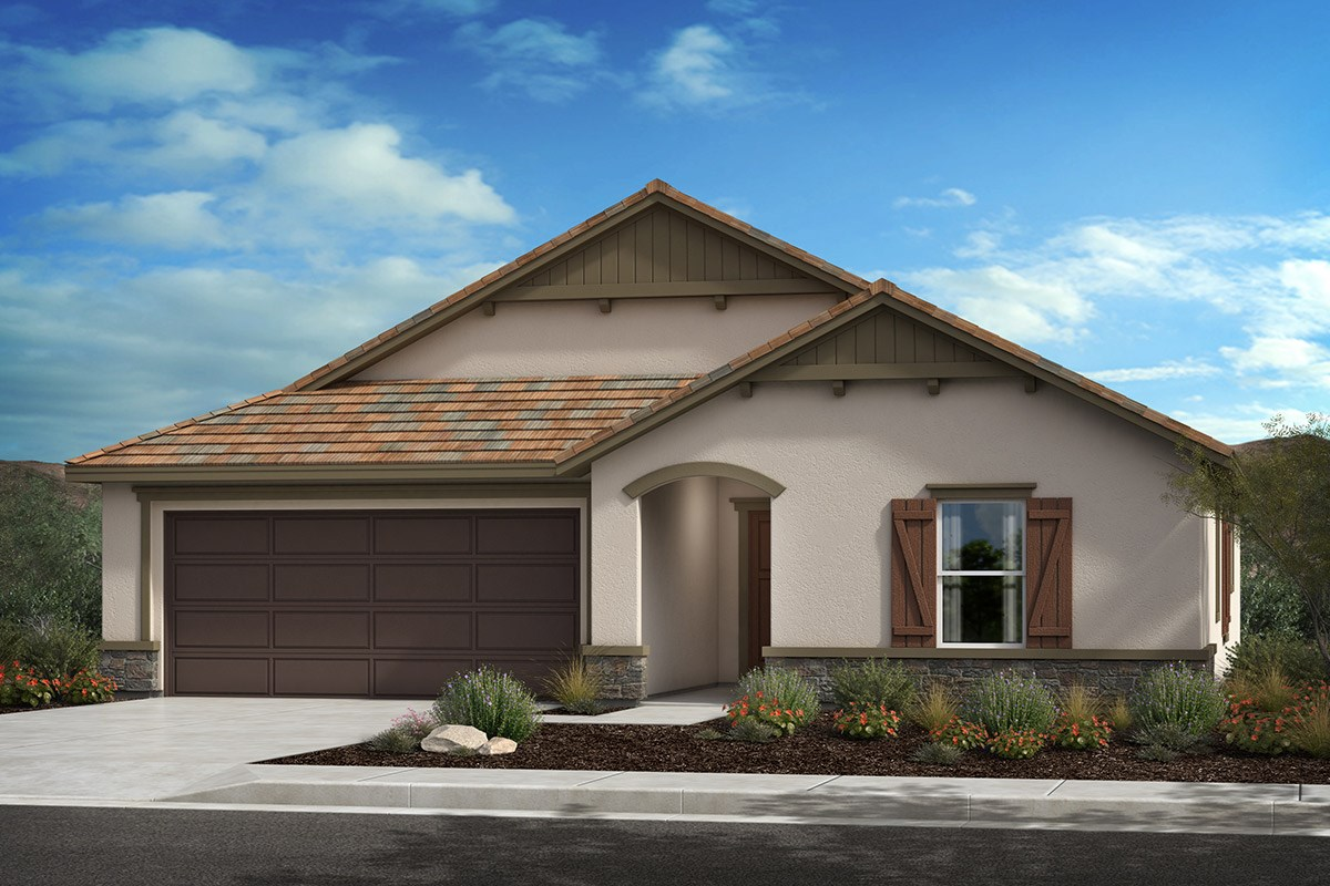 New Homes in Lancaster, CA - Serenade Plan 1551, Elevation C