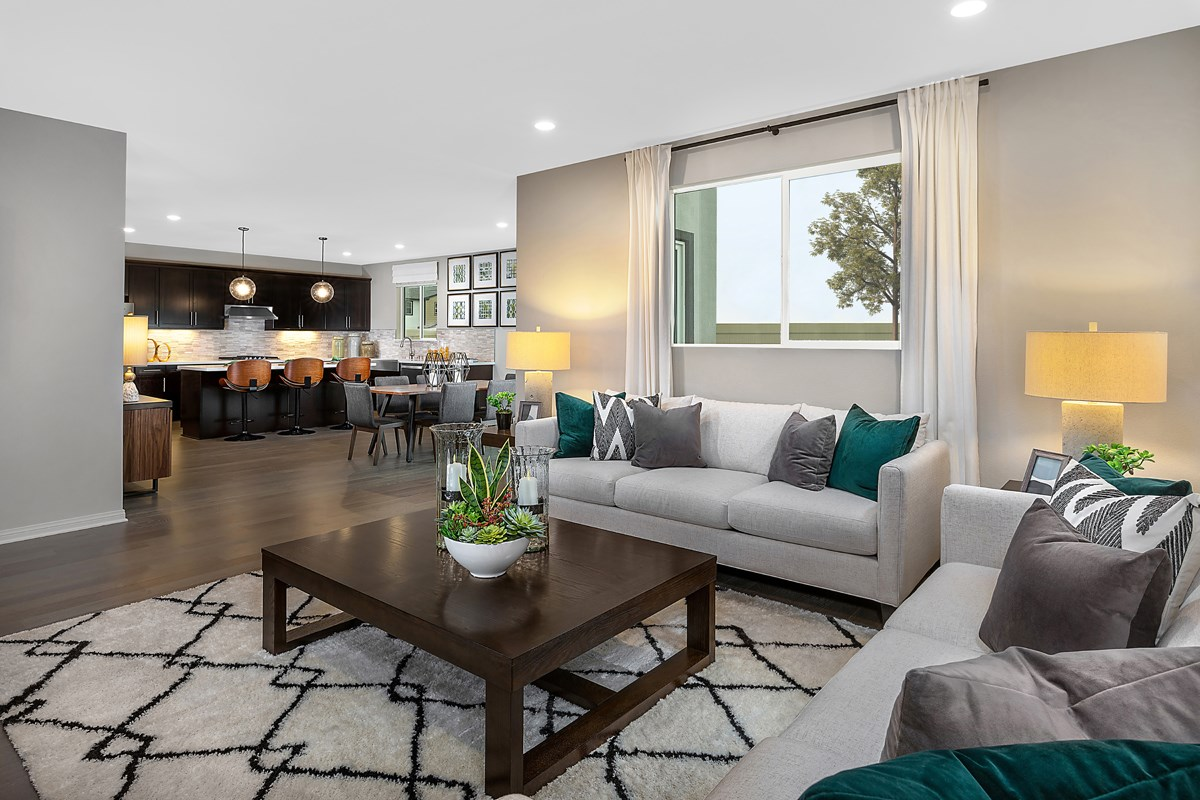 New Homes in Harbor City, CA - Villas at Harbor Pointe Residence 2538 Great Room