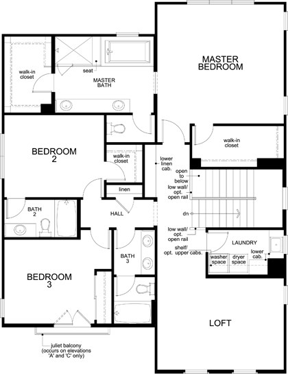 New Homes in Irvine, CA - Residence Three, Second Floor